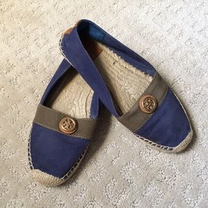 Espadrille summer flats by Tory Burch, size 7.5